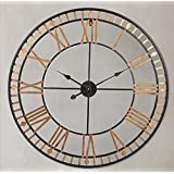 Retro de reloj de pared de forja Europea 80 * 80cm decoración del número romano living comedor dormitorio estudio creativa, Decoraciones de la pared, accesorios para el hogar
