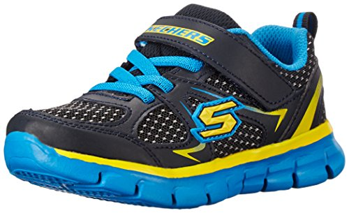 Skechers SynergyMini Dash, Jungen Sneakers, Blau (NVBL), 21 EU (Junge Maschinen)