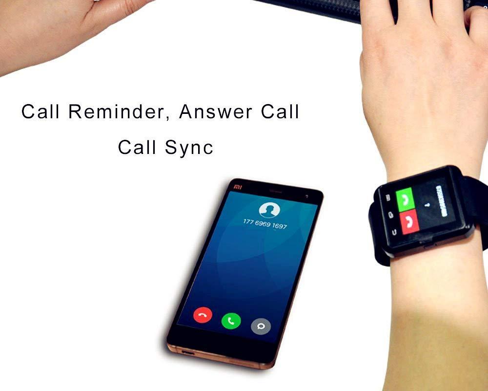 Letopro Smartwatch Bluetooth Reloj Inteligente Android iOS, Smart Watch Teléfono Inteligente De Pulsera con Pódometro/Contador de Calorias, Fitness Tracker para ios android phone(Negro) 8