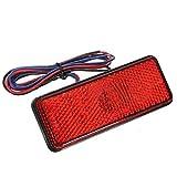 Feux d'arret LED - SODIAL(R)LED reflecteur arriere rouge queue frein arret pour camionnette remorque SUV moto