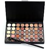 JasCherry Pro 1 Pcs Maquillaje Cepillos con 40 Colores Sombra De Ojos Paleta de Maquillaje Cosmética #1 - Perfecto para Sso Profesional y Diario
