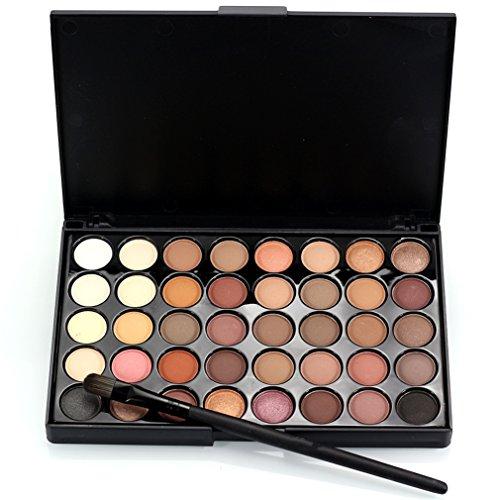JasCherry Pro 1 Stück Make Up Pinselset mit 40 Farben Lidschatten Palette Makeup Kit #1 - Ideal für Sowohl den Professionellen als auch Persönlichen Gebrauch