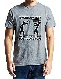 GeekDawn Men' Round Neck T-Shirt(Injury), Grey