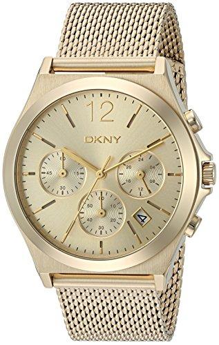 DKNY WOMEN'S 37MM GOLD-TONE STEEL BRACELET & CASE QUARTZ ANALOG WATCH NY2485