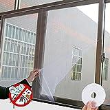 Tianu Fly Isolation Displayschutzfolie Netze für Fenster, Fly Bug Mosquito Net Mesh Fenster Vorhang (150x 130cm, Weiß)
