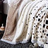 BDUK Raschel Decke dicke warme Herbst und Winter Mittagessen Decken Decken, Abschn. K) ,220*240cm/10 catty