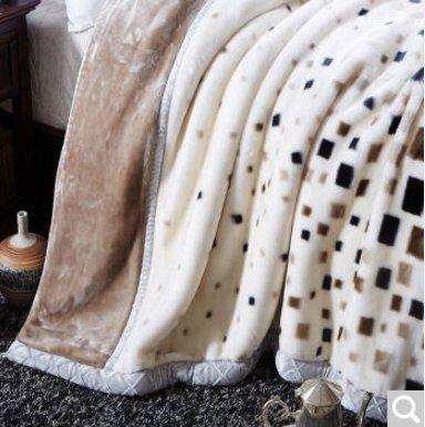 BDUK Raschel Decke dicke warme Herbst und Winter Mittagessen Decken Decken, Abschn. K) ,220*240cm/10 catty (Unten Snuggies)