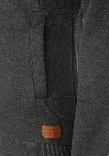 BLEND SHE Jannika Damen Sweatshirt Cross-Over Tuben Sweater mit Stehkragen aus hochwertiger Baumwollmischung Charcoal (70818)