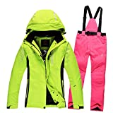 Tongzemeng Outdoor Ski Suit Lovers Warm Thick Waterproof Snow Skiwear Suit With Snow Belt