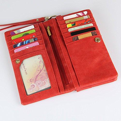 Darin Moda contratto ad alta capacit¨¤ nuove donne di colore della caramella e borsa portafoglio borsa Blu Rossa