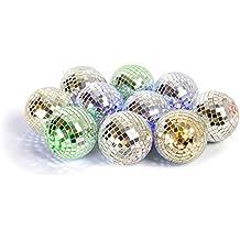 Batterie-Lichtkette mit Timer Disco-Kugel LED Lichterkette mit Mini Diskokugeln