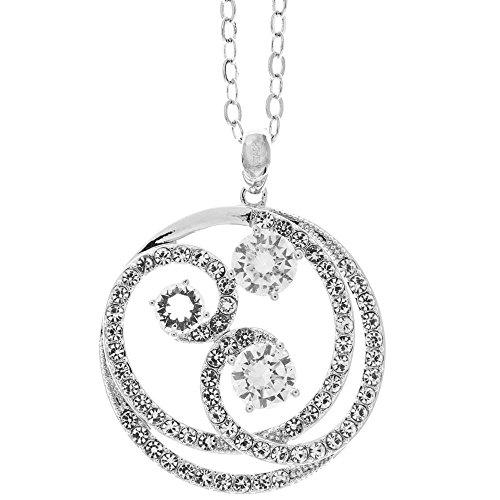 18K Weiß Vergoldet Halskette mit umschlungen Swirl Design mit Eine 40,6cm Verlängerbare Kette und hohe Qualität Kristalle von matashi