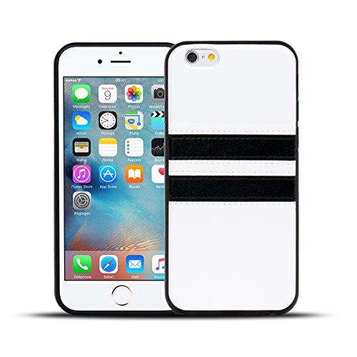 iPhone 6S, 6 Hülle, Conie Mobile Backcover für iPhone 6S, 6 Rückschale Sport Design Case Schutzhülle aus TPU Silikon in Weiss Weiss