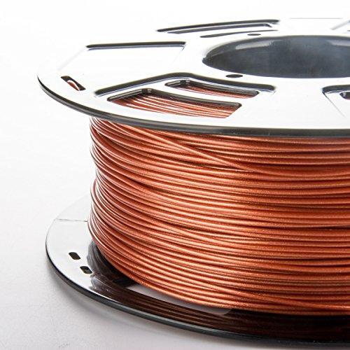 Stronghero3D 3D Druck Filament PLA 1.75mmm Metall Kupfer/Messing/Bronze 1 kg Genauigkeit +/- 0,05 mm (Kupfer) -