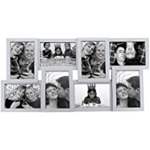 Present Time - Marco para varias fotos, diseño en relieve, color plateado