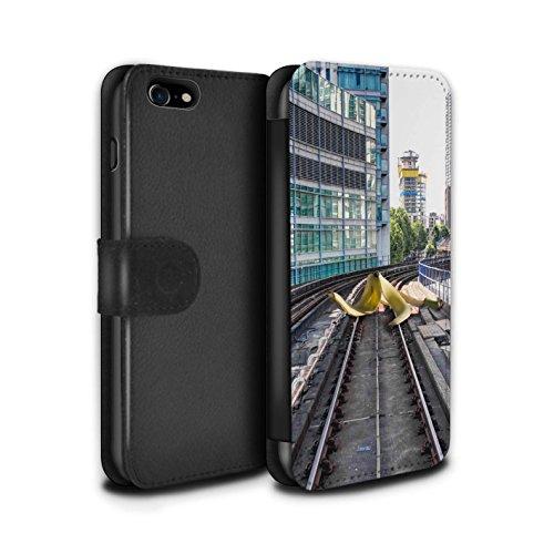 Stuff4 Coque/Etui/Housse Cuir PU Case/Cover pour Apple iPhone 8 / Pack 29pcs Design / Imaginer Collection Pistes Glissantes