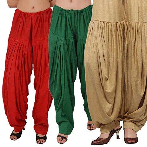 Semi - Patiala Cotton Salwar Combo (Red