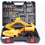 DINSEN Electric Car Floor Jack Set 2T 12V Scissor Car Jack Lift with Impact Wrench for Sedan Change Tires Garage Kit