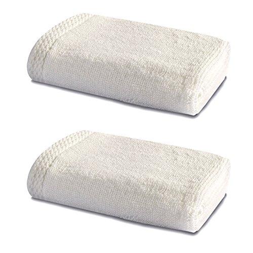 Linge de Bain en Bambou - Double Pack - 2 x Superbes Bambou Petits Carrés de Toilette - 600g/m² - Blanc Naturel - 30cm x 30cm