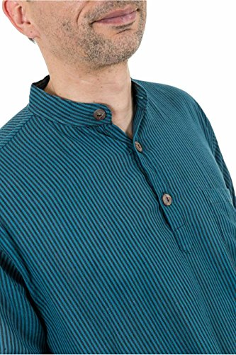 - Chemise rayures transformable manches courtes Makesh - Vert