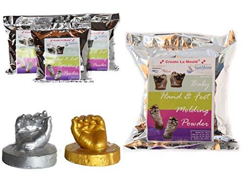 Create La Mould 3D Mineral Molding Powder Life Cast Gel Mold Baby Hand Foot  Casting Economic Kit (450 g)