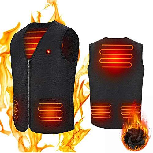 Volwco Beheizte Weste, USB Wiederaufladbar Heizweste Warme Heat Jacke für Damen und Herren, Outdoor Reiten Skifahren Angeln Lade Beheizter Kleidung Warmer Jacke Beheizbare Weste
