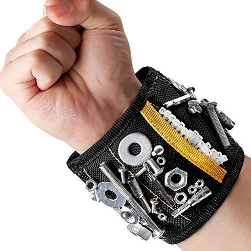 MYCARBON Magnetic Wristband 10 Powerful Magnets Magnetic Tool Wristband Tool Belt for Holding Tools, Screws, Nails, Bolts
