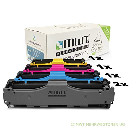 5x MWT Remanufactured Toner für HP Color LaserJet Pro MFP M 476 dw nw dn ersetzt CF380X-83A