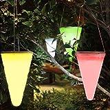 cuzile Wasserdicht Solar Hängeleuchte 7 Farbe ändern LED Solar Powered Lights Membran Lampe für Outdoor Garden Tree Kornett Eaves - 2er-Pack