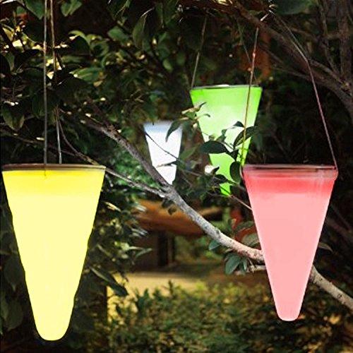 cuzile Wasserdicht Solar Hängeleuchte 7Farbe ändern LED Solar Powered Lights Membran Lampe für Outdoor Garden Tree Kornett Eaves