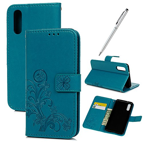 GEMYON Huawei P20, PU-Leder Geldbörse Buch Flip Tasche mit Magnetverschluss und integriertem Ständer Kratzfest für Huawei P20+ Touch Pen -