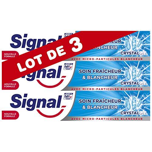 Signal Dentifrice Soin Fraîcheur & Blancheur Crystal Gel 75ml - Lot de 3