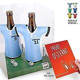 Ostergeschenk | Der Trikotkühler | Das Männergeschenk für 1860-Fans | Langlebige Geschenkidee Ehe-Mann Freund Vater Geburtstag | Bier-Flaschenkühler by Ligakakao