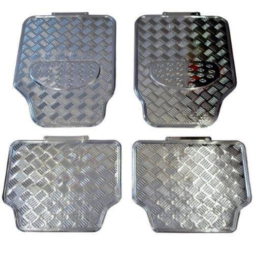 FUM781 - Chrome Caoutchouc Tapis de sol de voitures 4 Piece Universal Tapis de sol auto