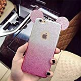 KC Soft Cute Ears Case Glitters Back Cover for iPhone 5, iPhone 5s