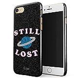 Glitbit Still Lost Planet Black Space Galaxy Star Kawaii Pale Stay Weird Quote Grunge Aesthetic Dünn Robuste Rückschale aus Kunststoff Für iPhone 7 / 8 Schutzhülle Schutz Hülle Case Cover