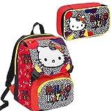 Zaino Seven Schoolpack Hello Kitty Googly Con Astuccio Completo CARTOLERIA VARZI 1956
