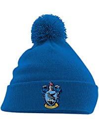 c08ca06bcebddf Harry Potter Beanie Hat Ravenclaw House Crest Hogwarts Official Blue Bobble  One Size