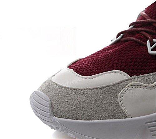 YEEY Running Schuhe Sneakers für Frauen Flat Heel Round Toe Running Gym Fitness Casual atmungsaktiv bequeme Schuhe elegant wine red