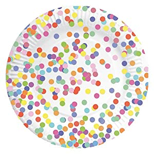 Unbekannt speel Goed 437150-Placas Confetti, 23cm, 8Unidades