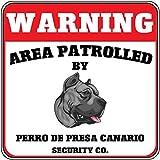 Warnung Bereich 'Dogo Canario