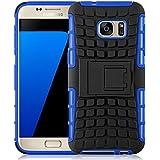 Galaxy S8 Hülle, JAMMYLIZARD [ ALLIGATOR ] Doppelschutz Outdoor-Hülle für Samsung Galaxy S8, BLAU