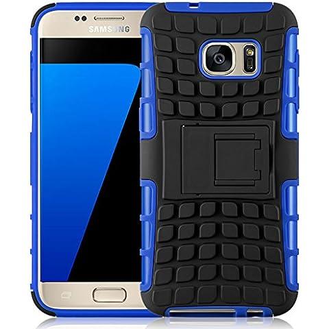 [ Samsung Galaxy S7 ] - Carcasa Alligator JAMMYLIZARD Militar Heavy Duty Case De Alta Resistencia, AZUL