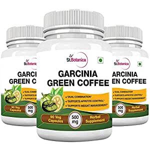 St.Botanica Garcinia Green Coffee Bean Extract - 90 Capsules (3 Bottles)