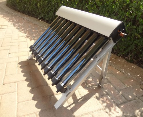 This listing includes: 1 set of solar collector of solar hot water heater(tube length: 0.5meter, Outer Diameter of Tube:58mm, 10 Tubes), including:  1). 10 pcs of Evacuate Tubes with heat pipe  2). 1 pcs of manifold (10 holes)  3).10 pcs of tube hold...