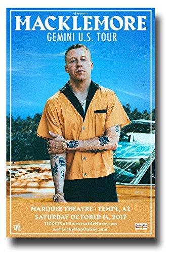 Concert Promoter Macklemore Poster-27,9x 43,2cm 2017Gemini Tour (Gemini-schiff)