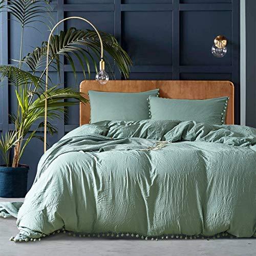 FOREVER Bettwäschesatz extra großer Wash Quilt-Bezug und Kissenbezug Wendebettbezug (Color : L, Size : Twin) - 300tc-duvet-set