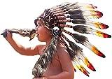 Sombrero de indio para niño / niña de 2 a 5 años, Gorro de Indio , Tocado de plumas