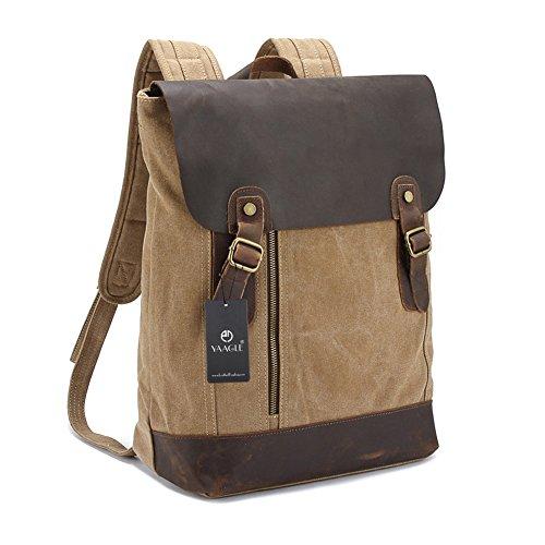 YAAGLE Verücktes Pferd outdoor Reisetasche schick Rucksack Gepäck Herren Schultertasche Business Taschen-khaki khaki