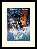 1art1 101591 Star Wars - Episode V, Das Imperium Schlägt Zurück, Filmplakat Gerahmtes Poster Für Fans und Sammler 40 x 30 cm